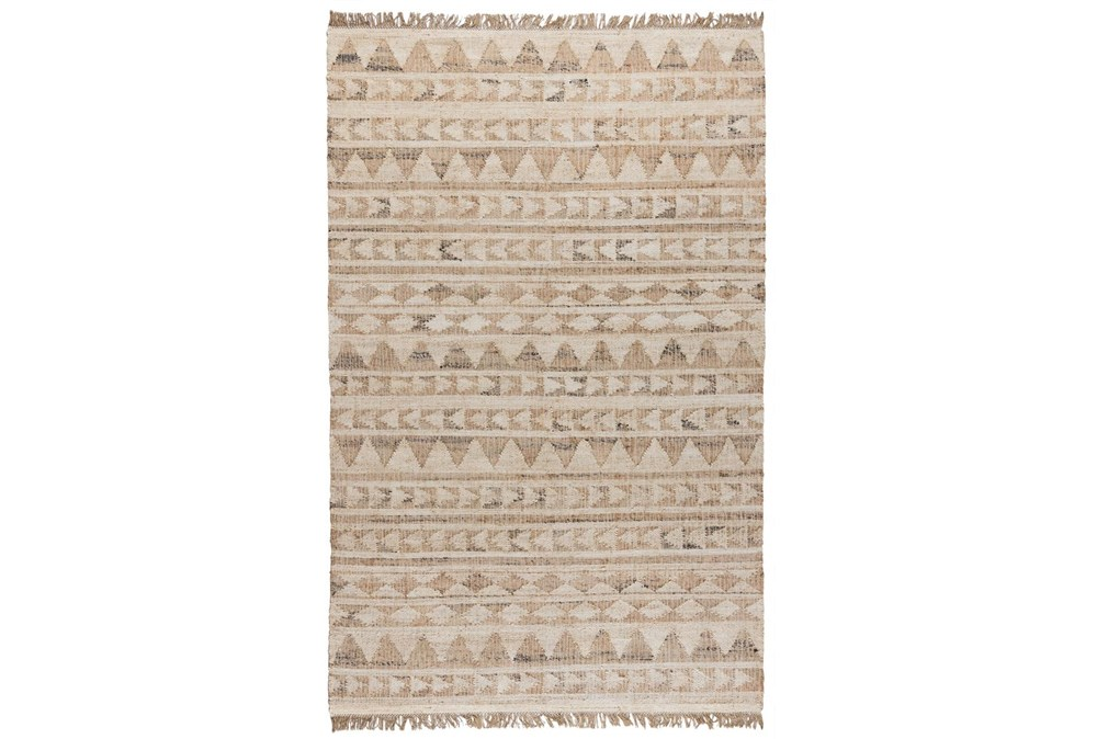 24X36 Rug-Modern Distressed Ivory Natural