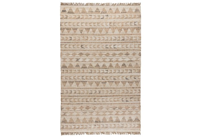 24X36 Rug-Modern Distressed Ivory Natural - 360