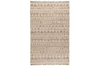 "2'6""x8' Runner Rug-Modern Distressed Ivory Natural"