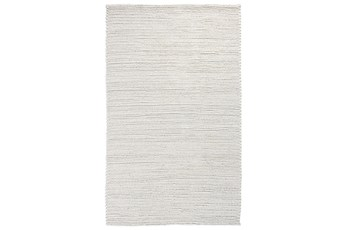 96X120 Rug-Rustic Birch White Woven
