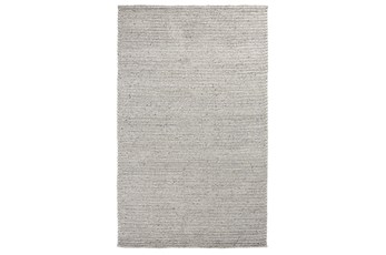 96X120 Rug-Rustic Feather Gray Woven