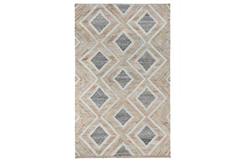 24X36 Rug-Modern Diamond Blue Multi