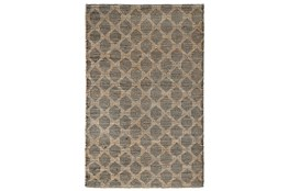 2'X3' Rug- Natural And Black Textured Geometric Pattern