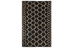 2'X3' Rug- Black Bold Geometric Pattern