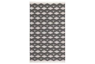 2'x3' Rug-Contemporary Indoor Outdoor Charcoal