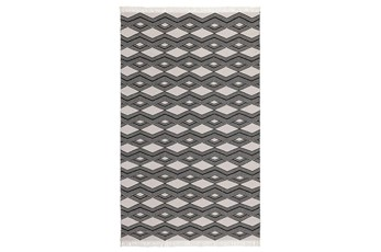 96X120 Rug-Contemporary Indoor Outdoor Charcoal
