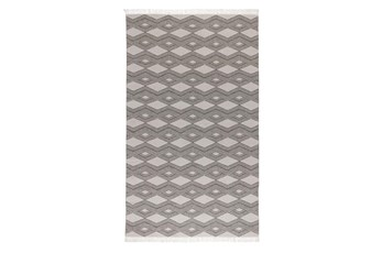 96X120 Rug-Contemporary Indoor Outdoor Pebble Gray