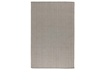 8'X10' Outdoor Rug- Gray Elevated Woven Texture