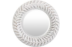 Mirror-White Washed Round 18X18