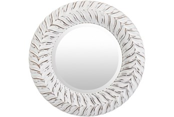 Mirror-White Washed Round 18X18