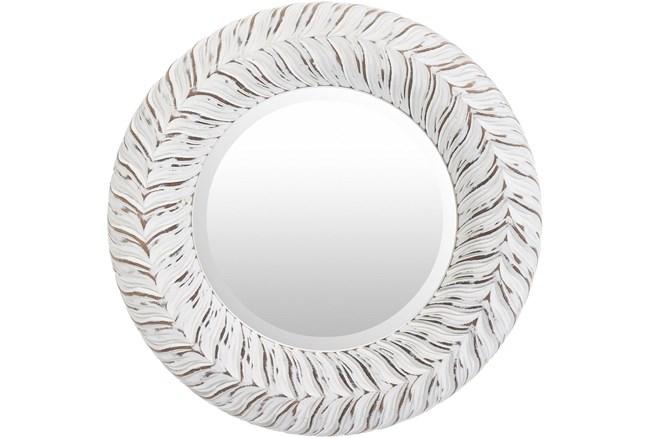 Mirror-White Washed Round 18X18 - 360