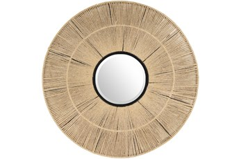 Mirror-Natural Jute 38X38