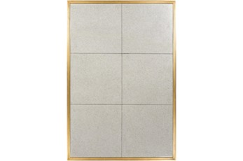 Mirror-Gold Leaf Grid 40X60