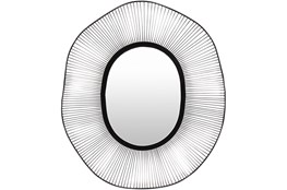 Mirror-Silver Black Polished Round 34X40