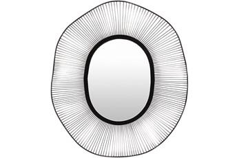Mirror-Silver Black Polished Round 34X40