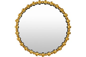 Mirror-Gold Hand Painted Round 30X30