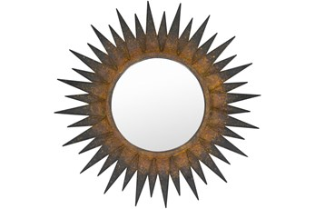 Mirror- Copper Sunburst 36X36