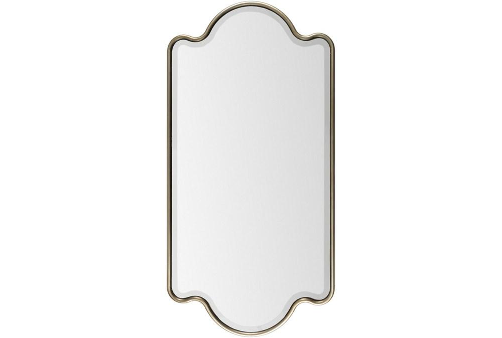 Mirror-Gold Trim 28X55