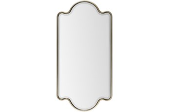 Mirror-Gold Trim 28X55