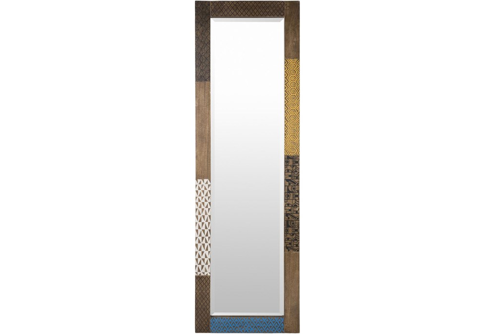 Mirror-Multicolor Antiqued Wood 22X70