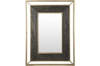 Mirror- Gold Painted Iron 36X48