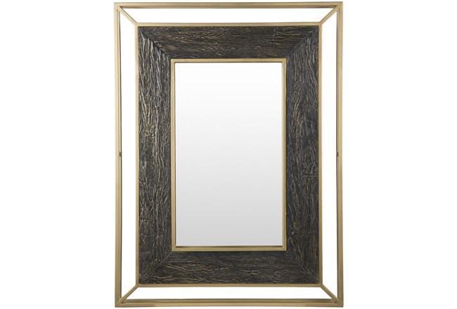 Mirror- Gold Painted Iron 36X48 - 360