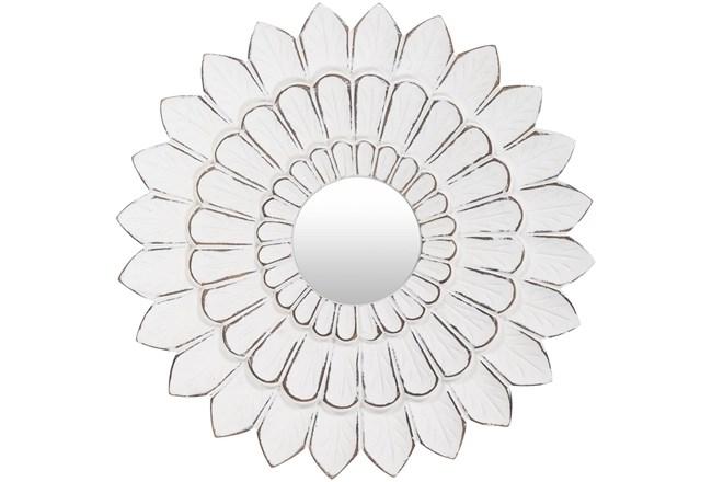 Mirror-Antiqued White Floral 15X15 - 360