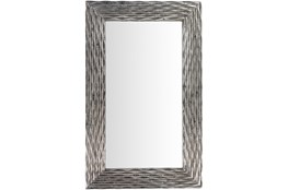 Mirror-Silver Ribbed 28X45