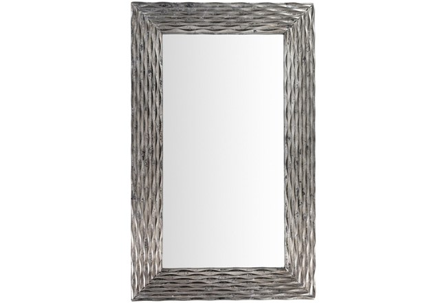 Mirror-Silver Ribbed 28X45 - 360