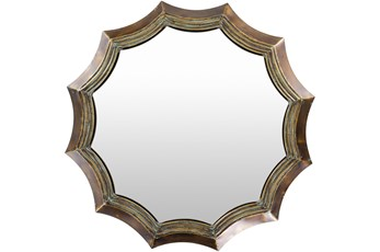 Mirror-Brown Scalloped 39X39