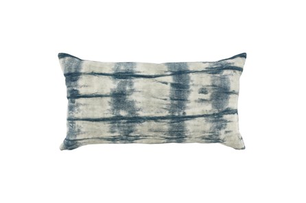 Accent Pillow-Saltwater Blue Tie Dye 14X26 - Main