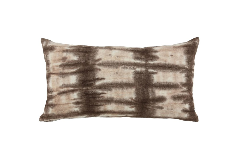 Accent Pillow-Fossil Brown Tie Dye 14X26