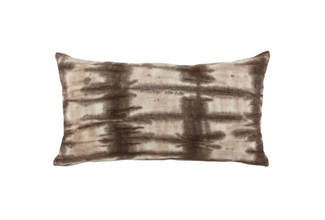 Accent Pillow-Fossil Brown Tie Dye 14X26 - 360