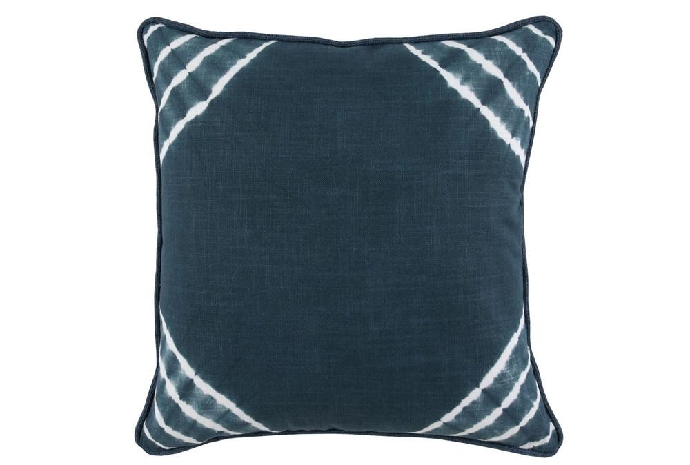 Accent Pillow-Saltwater Blue Corner Tie Dye 22X22