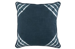 Accent Pillow-Saltwater Blue Corner Tie Dye 22X22