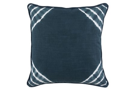 Accent Pillow-Saltwater Blue Corner Tie Dye 22X22 - Main