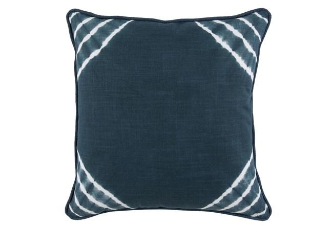 Accent Pillow-Saltwater Blue Corner Tie Dye 22X22 - 360