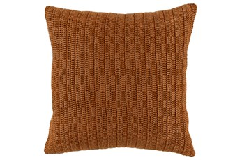 Accent Pillow-Saffron Stonewashed Knit Flax Linen 22X22