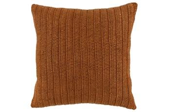 Accent Pillow-Saffron Stonewashed Knit Flax Linen 22X22