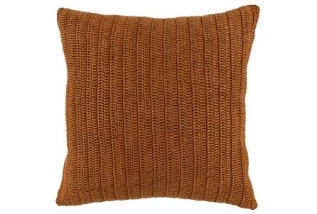 Accent Pillow-Saffron Stonewashed Knit Flax Linen 22X22 - Main
