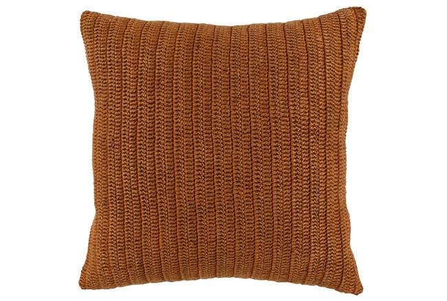Accent Pillow-Saffron Stonewashed Knit Flax Linen 22X22 - 360