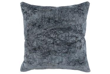 22X22 Saltwater Blue Chenille Textured Pattern Throw Pillow