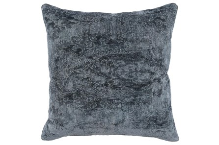 Accent Pillow-Saltwater Blue Stonewashed Chenille 22X22 - Main