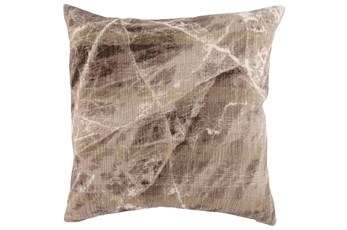 Accent Pillow-Fossil Brown Stone 22X22
