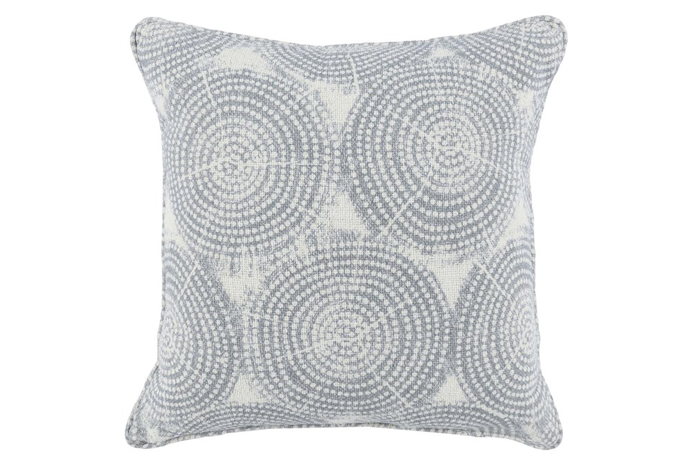 Accent Pillow-Saltwater Blue Rings 22X22