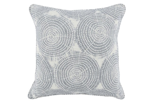 Accent Pillow-Saltwater Blue Rings 22X22 - 360