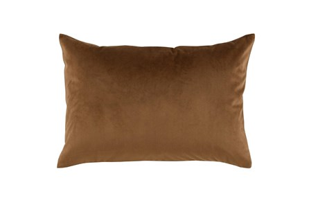 Accent Pillow-Chestnut Smooth Velvet 14X20 - Main