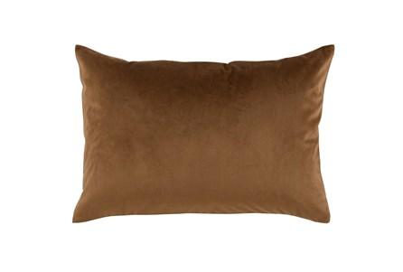 Accent Pillow-Chestnut Smooth Velvet 14X20 - Main