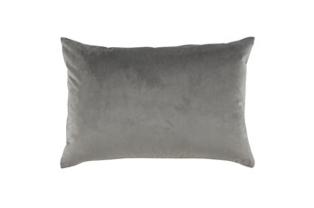 Accent Pillow-Storm Gray Smooth Velvet 14X20