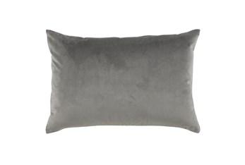 Accent Pillow-Storm Gray Smooth Velvet 14X20